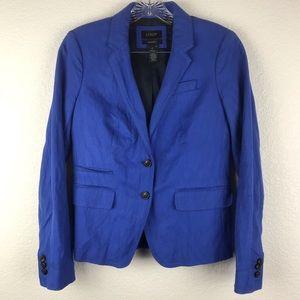 Womens J.CREW Schoolboy Blue Boyfriend Sz 8 #37852